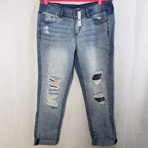 🆕️NY&Co New York Boyfriend Jean's Destroyed Sz 10